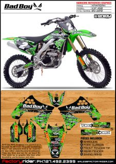 2012 2013 Kawasaki KXF 450 BadBoy Dirt Bike Graphics Kit Motocross Graphics Kit