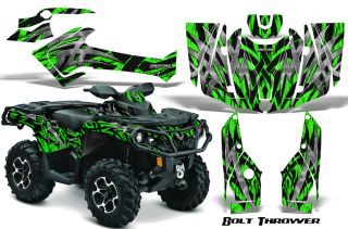 Can Am Outlander 800 1000 R XT 2012 Graphics Kit Decals Stickers BTG