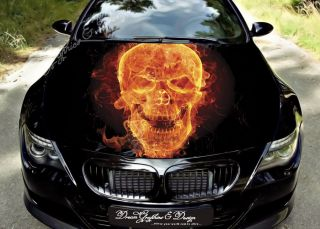Hood Wrap Full Color Print Vinyl Decal Fit Any Car Fire Jazz 186
