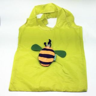 "Bee ""Primo Design Studio"" Green Eco Reusable Earth Friendly Tote Bag"