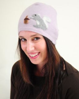 The Squirrel Upcycled Cashmere Hat Unisex Eco Green USA Blue Red Black Yellow