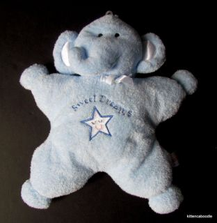 Kids Preferred Sweet Dreams Star Blue Elephant Plush Stuffed Baby Toy Satin Ears