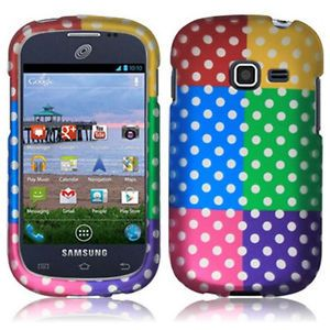 Colorful Polka Dots Hard Case Cover Samsung Galaxy Centura S738C Straight Talk