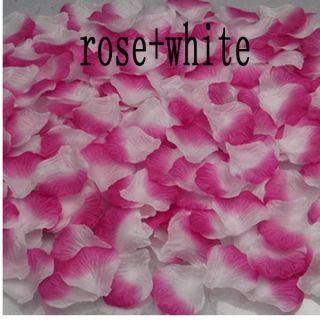 100 500 1000 Silk Flower Rose Petal Wedding Bridal Party Supply Decoration Color