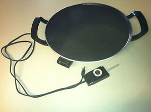 RARE Vintage Oster Super Grill Electric Griddle Model 9949 Round Indoor Large