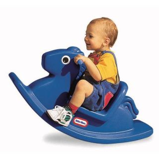 Little Tikes Rocking Horse Blue Baby Riding Toy New