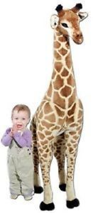 New Giant Giraffe Plush Melissa Doug for Kids Large Toy Soft Stuffed Animal