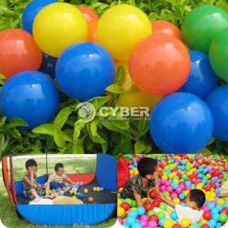 30pcs Soft Plastic Pit Ball 4 Bright Color Play Tent Tunnel Toy Kids Pets DZ88
