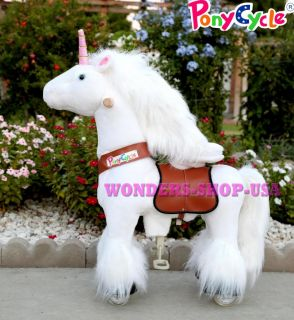 Small Unicorn Ride on Horse Ponycycle Really Walking Pony Toy Kids 3 5 Years