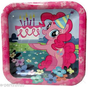 8 My Little Pony Friendship Is Magic Small Plates Birthday Party Supplies