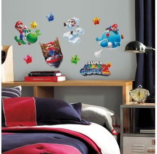 32 Super Mario Galaxy 2 Luigi Yoshi Lumas Kids Decor Room Wall Decals Stickers