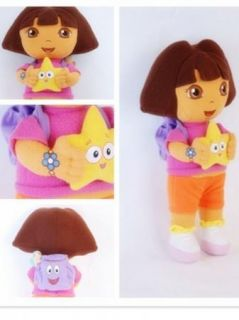 "New 13"" Dora The Explorer Kids Girl Soft Cuddly Stuffed Plush Toy Doll Free SHIP"