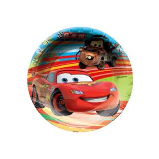 Authentic Disney Pixar Cars Lightning McQueen Birthday Party 6X Paper Plates