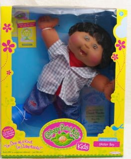 Cabbage Patch Kid Doll Africanamerican Premiere Collection Skater Boy