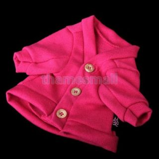 Pet Dog Puppy Warm Coat Jacket Fashion Party Clothing Clothes Rose Pink Size S
