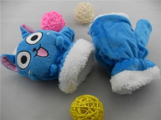 Fairy Tail Anime Happy Cat Soft Plush Gloves Costume
