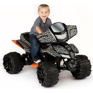 ATV 12 Volt Battery Powered Ride on Gray Duck Dynasty Kids Great Car Jeep Toy