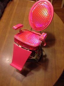 American Girl Pink Salon Chair for Doll Spa Hair