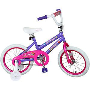 "16"" Kids Girls' Training Bike Pink Purple Outdoor Play Toy Barbie Playhouse"