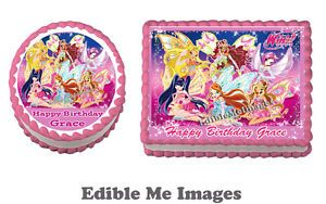 Winx Club Lego Birthday Party Cake Topper Edible Image Decoration Cupcakes