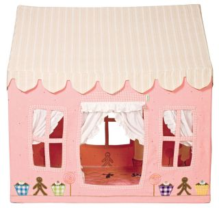 Children's Kids Girls Large Win Green Gingerbread Cottage Playhouse Play Tent