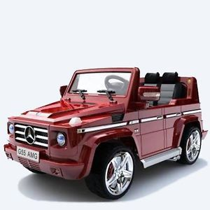 Licensed Mercedes Benz G55 AMG Kids Ride on Power Wheels Battery Toy Car Red