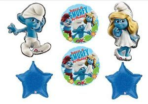 Smurf Smurfette Birthday Party Balloons Supplies Favors