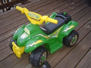 GREEN12V Battery Powered Electric Kids Ride on Toy ATV Car 4 Wheel