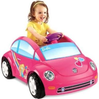 Kids Ride on Toy Fisher Price Power Wheels Barbie Volkswagen New Beetle Car