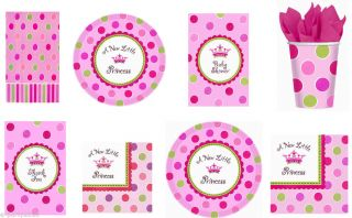 A New Little Princess Girl Baby Shower Party Supplies Create Your Set U Pick