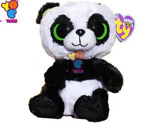 Ty Beanie Boos Boo Babies Panda Teddy Bear Plush Toys Doll Safari Soft Kids