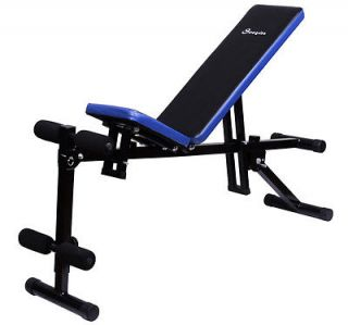 Soozier Multi Use Adjustable Dumbbell Chair Exercise Weight AB Sit Up Bench