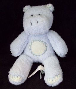 Pottery Barn Kids Blue Hippo Critter Plush Toy Small 8""