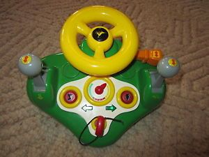 John Deere Electronic Steering Wheel Kids Toy Pretend Drive Wheel Sound Music