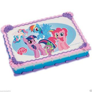 My Little Pony Edible Cake Image Decoration Topper 3 Party Supplies