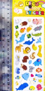 UPICK Styles Puffy Vinyl Sheet Sticker Kid Girl Decoration Craft Cute Toy A1529