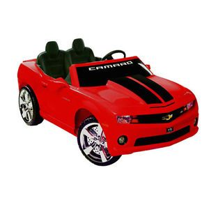 Red Chevy Camero Kids Battery Powered Childrens Electric Ride on Sports Car Toy