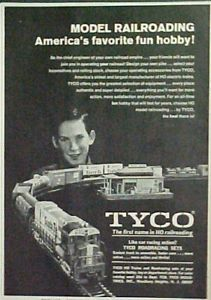 1969 Tyco Santa FE Electric Train Model RR HO Scale Kids Toy Railroad Promo Ad
