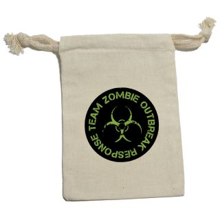 Zombie Outbreak Response Team Green Birthday Boy Cotton Gift Party Favor Bags