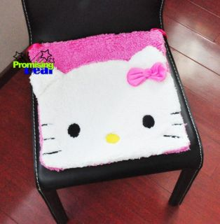 Cute Hello Kitty Plush Chair Pads Indoor Outdoor Kitchen Cushions Pink