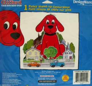 Clifford Fuzzy Stand Up Centerpiece Happy Birthday Party Supplies Decor