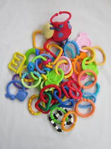 40 Baby Toy Links Interlocking Rings Teething Plastic Kids II Bright Starts