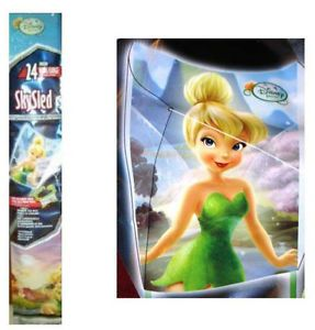 "Disney Tinkerbell Fairy Girls Kids 24"" Wide Flyer Sky Poly Skysled Kite NIP"