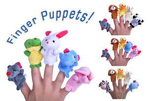 Tiny Finger Puppets Children's Toys Random Set of 5 Animal Puppets Great Value