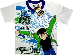 Ben 10 Ultimate Alien Boys White T Shirt Childrens Kids Ben Ten Shirts Toy Toys