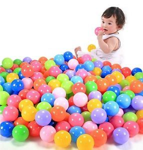 100 Pcs Colorful Ball Fun Ball Soft Plastic Ocean Ball Baby Kid Toy Swim Pit Toy