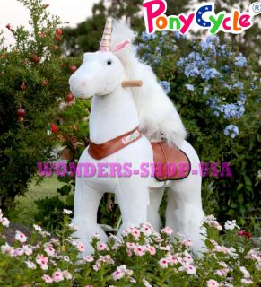 Medium Unicorn Ride on Horse Ponycycle Really Walking Pony Toy Kids 4 9 Years