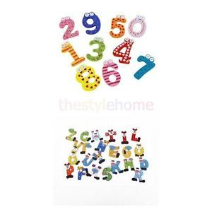 26 Magnetic Alphabet Letters 10 Numbers Fridge Magnets Set Kid Educational Toy
