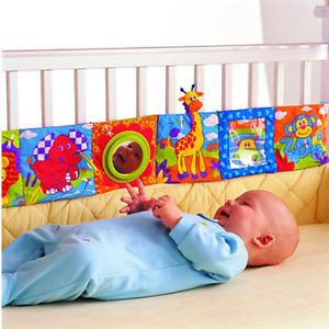 Baby Kid High Contrast Puzzle Zoo Cloth Book Crib Gallery Toy Development G01