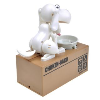 Hot Hungry Eating Dog Stopper Children Coin Bank Box